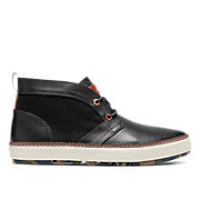 BEESON - leather w/wool insert - black