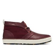 BEESON - leather w/wool insert - oxblood