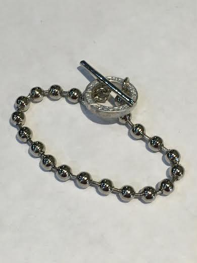 Silver Togel Ball Bracelet