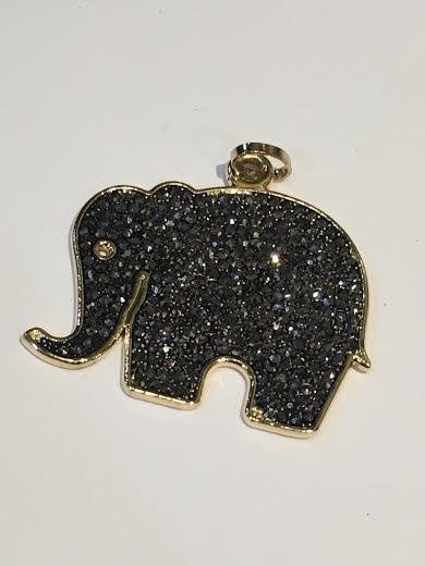 Gold Elephant with Stones