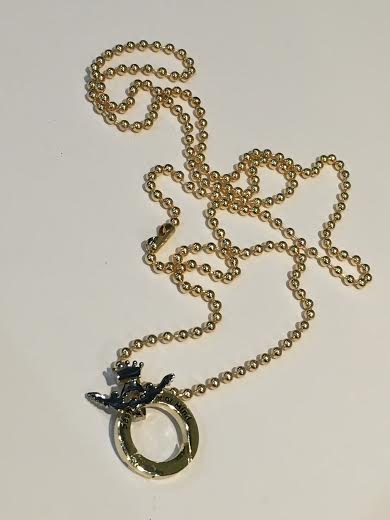 Large Gold Necklace With Small Balls