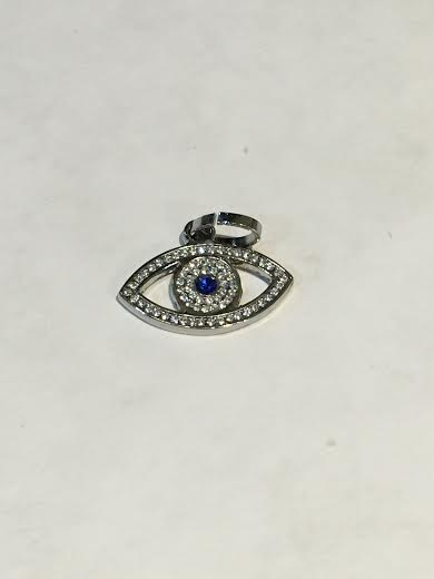Stainless Silver Evil Eye Charm