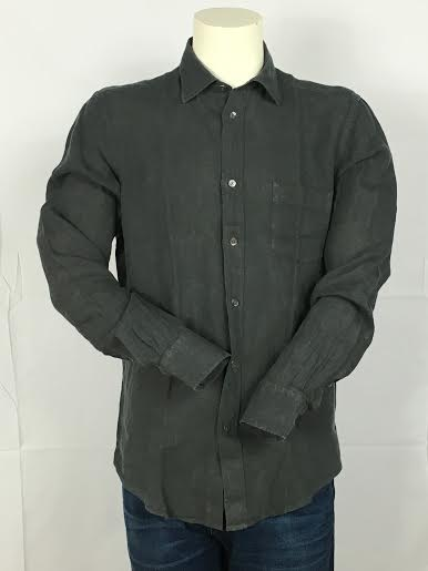 Hartford Long Sleeve Linen Button-Down Shirt