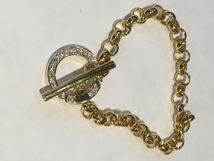 Gold Togel Link Bracelet